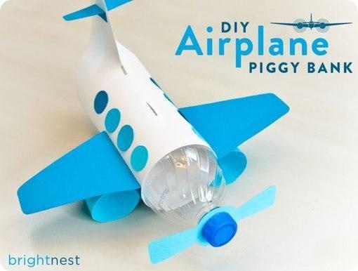 Как сделать самолёт из бутылок своими руками