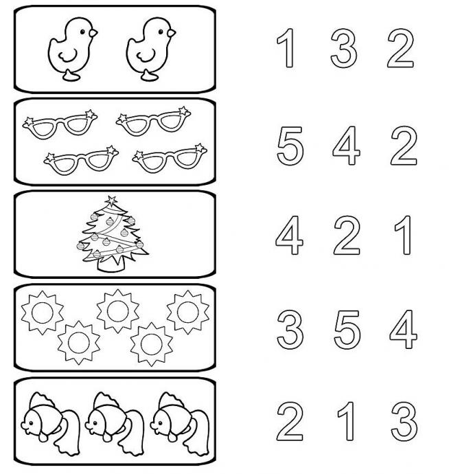 Соотношение числа и цифры в картинках для