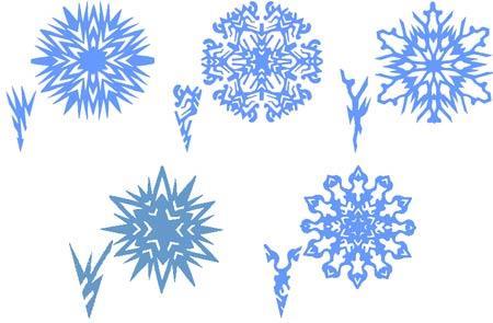 Как сделать красивые снежинки.